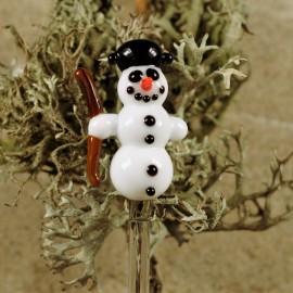 sněhulák do květináče