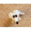 myš stojící bílá